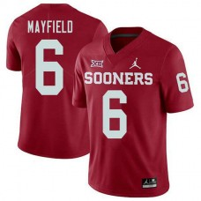 Womens Baker Mayfield Oklahoma Sooners #6 Jordan Brand Authentic Red College Football Jersey