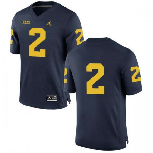 Mens Charles Woodson Michigan Wolverines #2 Limited Navy College Football Jersey No Name