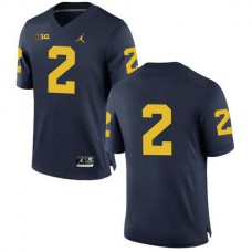 Womens Charles Woodson Michigan Wolverines #2 Authentic Navy College Football Jersey No Name