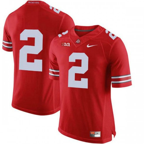 Mens Chase Young Ohio State Buckeyes #2 Authentic Red College Football Jersey No Name