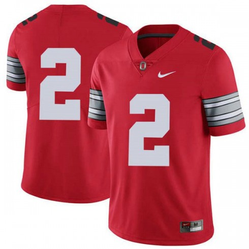 Mens Chase Young Ohio State Buckeyes #2 Champions Limited Red College Football Jersey No Name