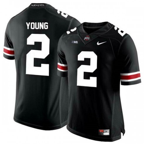 Mens Chase Young Ohio State Buckeyes #2 Game Black College Football Jersey