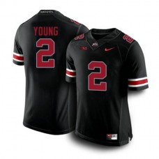 Mens Chase Young Ohio State Buckeyes #2 Game Blackout College Football Jersey