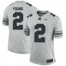 Womens Chase Young Ohio State Buckeyes #2 Authentic Grey College Football Jersey