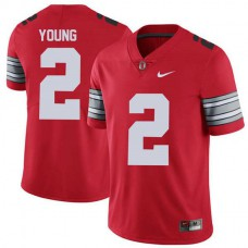 Womens Chase Young Ohio State Buckeyes #2 Champions Limited Red College Football Jersey