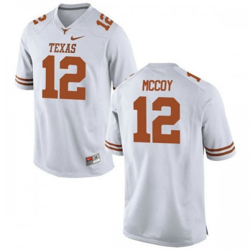 Mens Colt Mccoy Texas Longhorns #12 Authentic White Colleage Football Jersey