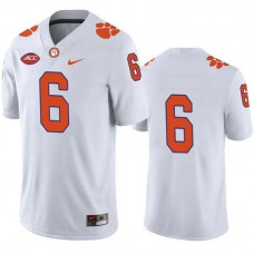 Mens Deandre Hopkins Clemson Tigers #6 Authentic White Colleage Football Jersey No Name