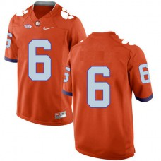 Mens Deandre Hopkins Clemson Tigers #6 New Style Game Orange Colleage Football Jersey No Name