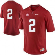 Mens Derrick Henry Alabama Crimson Tide #2 Authentic Red Colleage Football Jersey No Name