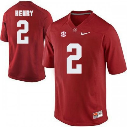 Mens Derrick Henry Alabama Crimson Tide Authentic Red Colleage Football Jersey