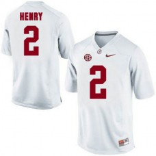 Youth Derrick Henry Alabama Crimson Tide Game White Colleage Football Jersey