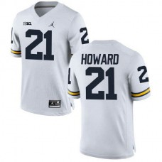 Mens Desmond Howard Michigan Wolverines #21 Authentic White College Football Jersey