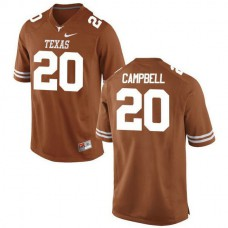 Youth Earl Campbell Texas Longhorns #20 Authentic Orange Colleage Football Jersey