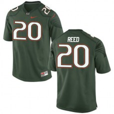 Mens Ed Reed Miami Hurricanes #20 Game Green College Football Jersey