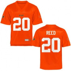 Mens Ed Reed Miami Hurricanes #20 Limited Orange College Football Jersey