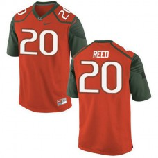 Youth Ed Reed Miami Hurricanes #20 Game Orange Green College Football Jersey