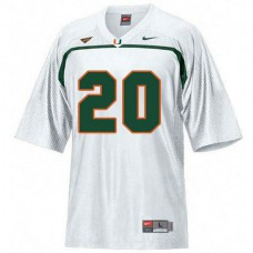 Youth Ed Reed Miami Hurricanes #20 Game White College Football Jersey