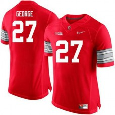 Mens Eddie George Ohio State Buckeyes #27 Champions Authentic Red College Football Jersey