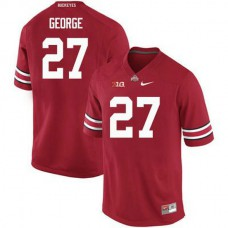 Womens Eddie George Ohio State Buckeyes #27 Authentic Red College Football Jersey
