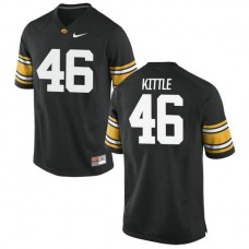 Mens George Kittle Iowa Hawkeyes #46 Authentic Black College Football Jersey