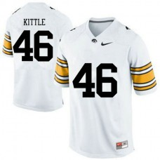 Mens George Kittle Iowa Hawkeyes #46 Authentic White College Football Jersey
