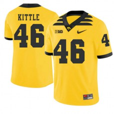Youth George Kittle Iowa Hawkeyes #46 Authentic Gold Alternate College Football Jersey