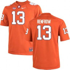 Mens Hunter Renfrow Clemson Tigers #13 Authentic Orange Colleage Football Jersey