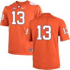 Mens Hunter Renfrow Clemson Tigers #13 Game Orange Colleage Football Jersey No Name