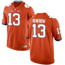 Mens Hunter Renfrow Clemson Tigers #13 New Style Authentic Orange Colleage Football Jersey
