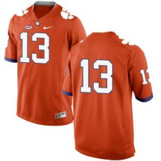 Mens Hunter Renfrow Clemson Tigers #13 New Style Authentic Orange Colleage Football Jersey No Name
