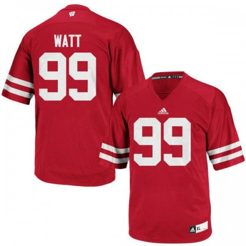 Youth Jj Watt Wisconsin Badgers #99 Limited Red Colleage Football Jersey