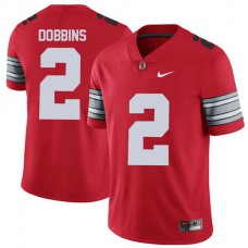 Mens Jk Dobbins Ohio State Buckeyes #2 Champions Limited Red College Football Jersey