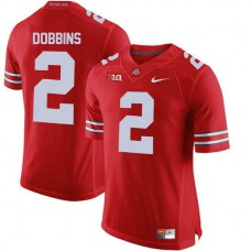 Womens Jk Dobbins Ohio State Buckeyes #2 Authentic Red College Football Jersey