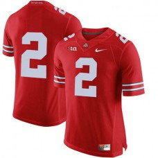 Womens Jk Dobbins Ohio State Buckeyes #2 Authentic Red College Football Jersey No Name