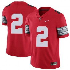 Womens Jk Dobbins Ohio State Buckeyes #2 Champions Game Red College Football Jersey No Name
