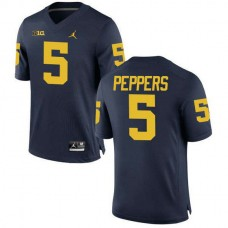 Mens Jabrill Peppers Michigan Wolverines #5 Limited Navy College Football Jersey