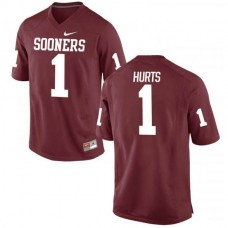 Youth Jalen Hurts Oklahoma Sooners #1 Authentic Red College Football Jersey