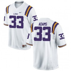 Mens Jamal Adams Lsu Tigers #33 Authentic White College Football Jersey