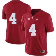 Womens Jerry Jeudy Alabama Crimson Tide #4 Authentic Red Colleage Football Jersey No Name