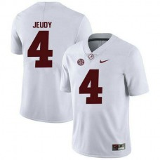 Youth Jerry Jeudy Alabama Crimson Tide #4 Game White Colleage Football Jersey