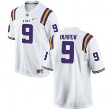 Youth Joe Burrow Lsu Tigers #9 Authentic White College Football Jersey