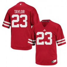 Mens Jonathan Taylor Wisconsin Badgers #23 Authentic Red Colleage Football Jersey
