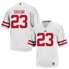 Mens Jonathan Taylor Wisconsin Badgers #23 Authentic White Colleage Football Jersey