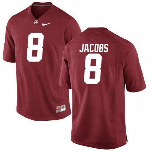 Mens Josh Jacobs Alabama Crimson Tide #8 Game Red Colleage Football Jersey