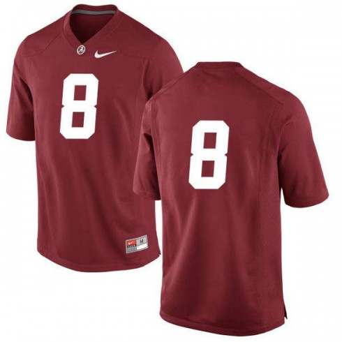 Womens Josh Jacobs Alabama Crimson Tide #8 Game Red Colleage Football Jersey No Name