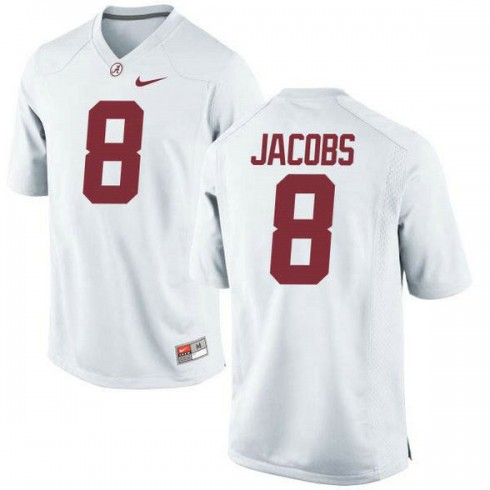 Youth Josh Jacobs Alabama Crimson Tide #8 Authentic White Colleage Football Jersey