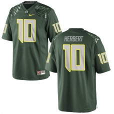Youth Justin Herbert Oregon Ducks #10 Authentic Green College Football Jersey
