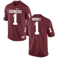 Mens Kyler Murray Oklahoma Sooners #1 Authentic Red College Football Jersey
