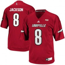 Womens Lamar Jackson Louisville Cardinals #8 Authentic Red College Football Jersey