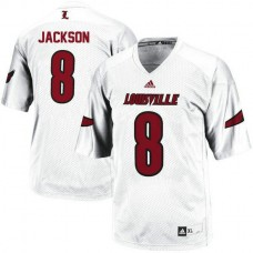 Womens Lamar Jackson Louisville Cardinals #8 Authentic White College Football Jersey